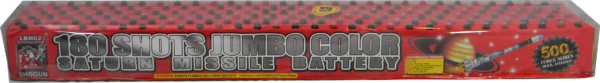 180 Shots Jumbo Color Saturn Missile Battery