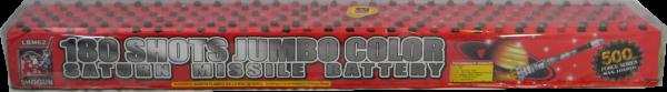 180 Shots Jumbo Color Saturn Missile Battery