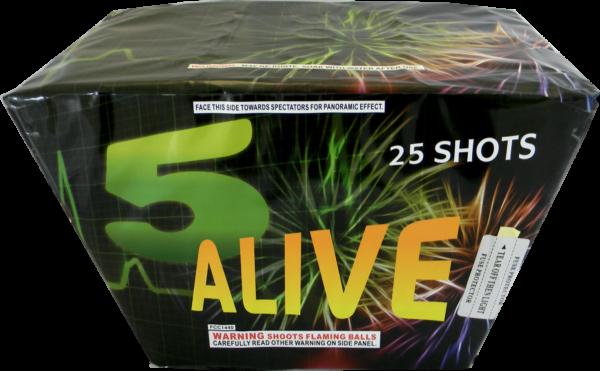 """5 Alive – 25 Shot by """"Hot Shot"""""""