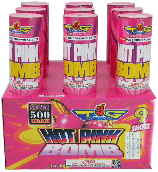 Hot Pink Bomb – 9 Shot 3″