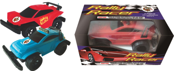 "Rally Racer – Plastic Molded Reloadable Car by ""Hot Shot"""