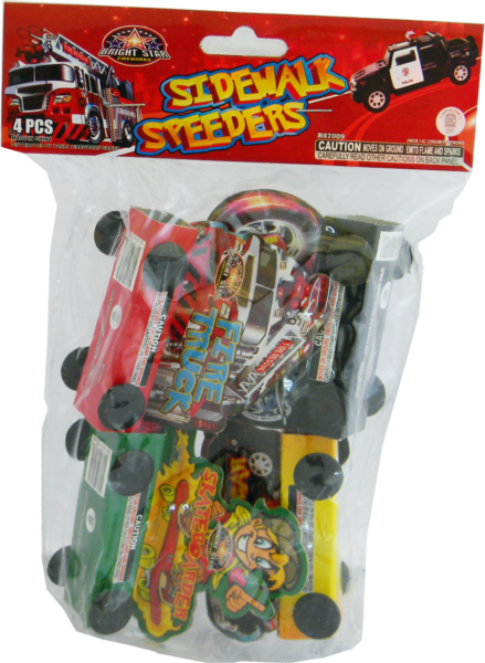 Sidewalk Speeders – 4 Pack
