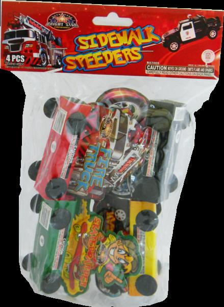 Sidewalk Speeders – 4 Pack
