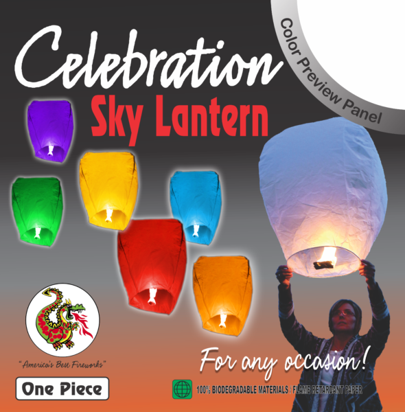 Celebration – Sky Lantern (Assorted Colors)