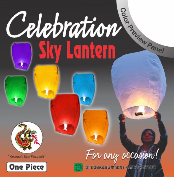 Celebration – Sky Lantern (Assorted Colors)