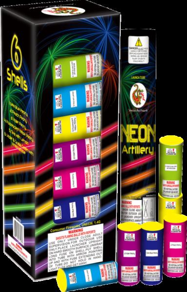 Neon Artillery Shells